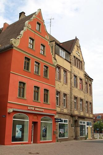 Bitterfeld-Wolfen: Wohn- und Geschäftshäuser Badergasse 7 und Burgstraße 39