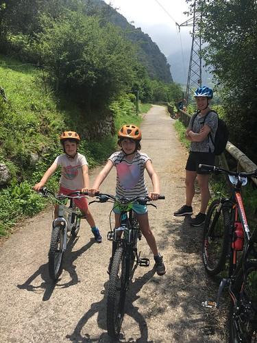 Bike ride, Senda del Oso, Asturias
