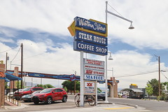 Western View Sign in Albuquerque Route 66 7.5.2019 0946