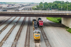 UP 3911 | EMD SD70M | FXE 4086 | EMD SD70ACe | CN Harrison Yard