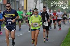 Joggers run the Cologne Marathon 2021