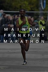 Sportler läuft den ältesten City-Marathon Deutschlands: Mainova Frankfurt Marathon