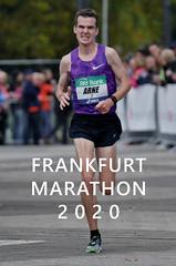 """Langstreckenläufer Arne Gabius beim Marathonlauf, mit dem Bildtitel """"Frankfurt Marathon 2020"""""""