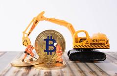 Bitcoin mining concept