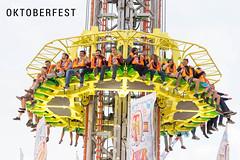 Sky Fall - Free Fall Tower at Oktoberfest in Munich, Germany