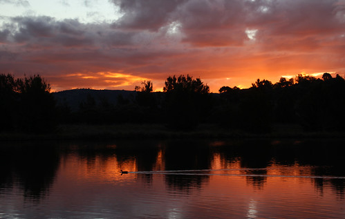 Sunset at Point Hut Pond, Canberra