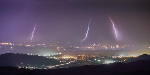 Gewitter über dem Rheintal