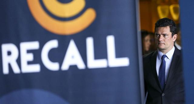 O ministro Sérgio Moro durante evento em Brasília na semana passada - Créditos: Marcelo Camargo | Agência Brasil