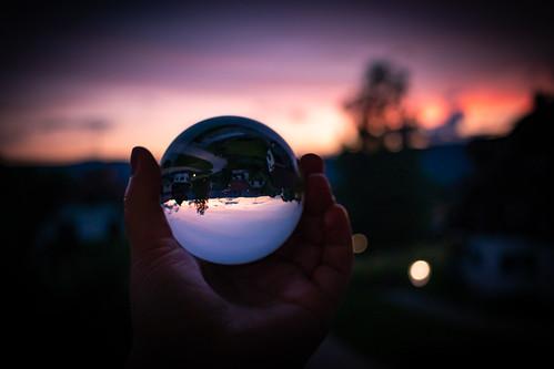 Lensball Sonnenuntergang