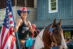 Schroon Lake Parade 2019 Patriotic Horses (2 of 3)