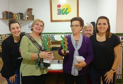 Entrega trofeos V Campeonato Femenino de Dominó