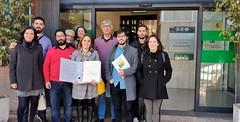Entrega firmas Consorcio Transportes Sevilla nueva linea a Valme