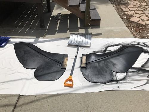 Mothra puppet progress pictures