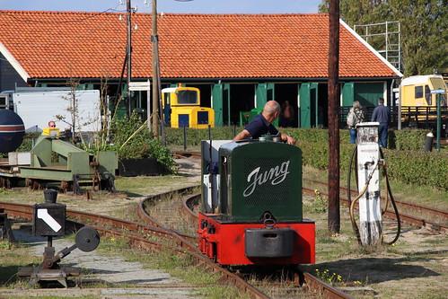 2018-09-30; 0113. Motorloc 30 Jung. Nationale smalspoor modelbouwdagen, Stoomtrein Katwijk-Leiden.