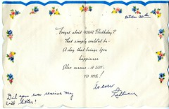 Birthday Card, 30 October 1943, page 2 of 2