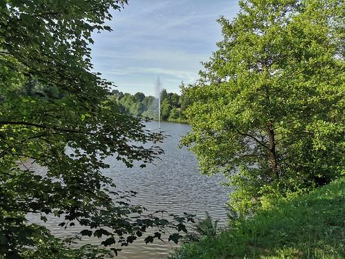 Lac Neufchäteau + jet d'eau