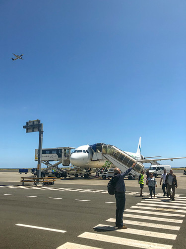 Two planes at Ponta Delgada Airport