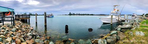 Tuncurry Fishermans Cooperative View over Cape Hawke Harbour, Tuncurry, NSW