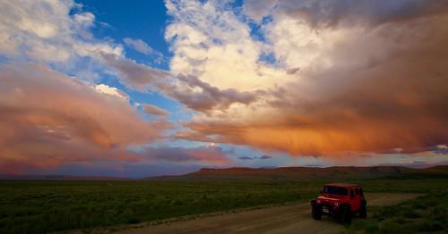Jeep amd Sunset Glow