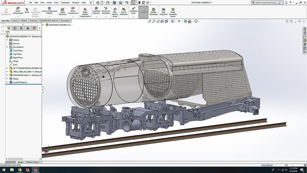 PRR 5550 Steam Locomotive CAD Drawing 1! - Download Photo - Tomato