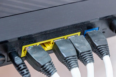 Connected Internet cable to Wi-Fi router