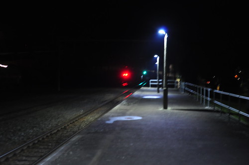 Taihape Station at Night