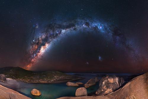 Milky Way at Elephant Rocks - Denmark, Western Australia
