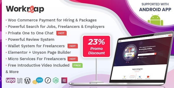 Workreap v1.0.9 - Freelance Marketplace WordPress Theme