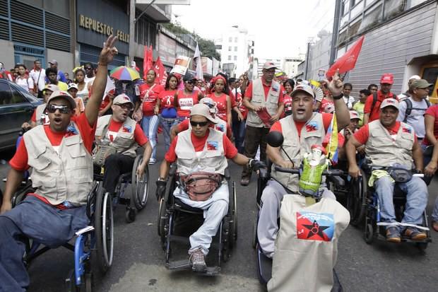 Venezuelanos criam Movimento Nacional de Pessoas com Deficiência Física