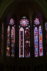 Medieval Stained Glass depicting St James, St John, St Matthew and St Philip