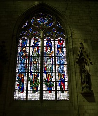 Stained Glass window in the North Transept