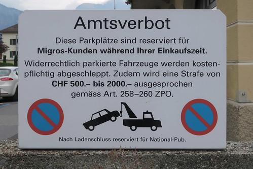 Bad Ragaz - Migros Parking