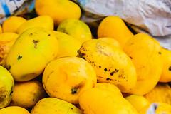 Close up of fresh mangoes