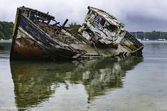 Bretagne Cimetière de bateaux de Quelmer Mai 2019