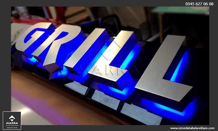 Paslanmaz krom kutu harf tabela çeşitleri, izmir tabela, alüminyum tabela, paslanmaz kutu harf, metal harf, ahşap tabela, oyma tabela, kutu harf tabela, kompozit tabela,  pleksi tabela, ışıklı tabela, tabela modelleri, tabela çeşitleri, harf tabela