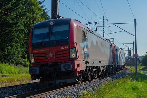 SBB CFF FFS Cargo Siemens Vectron 193 464 + Siemens Re 474....