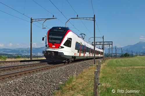 RABe 521 020 bei Mühlau, P7100438-1