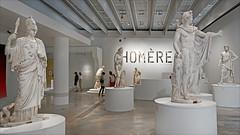 Les Dieux à l'entrée de l'exposition Homère (Louvre Lens)