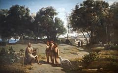 Homère et les bergers de J.-B. Corot (exposition Homère, Louvre Lens)