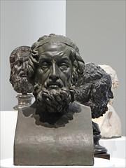 Bustes d'Homère (exposition Homère, Louvre Lens)