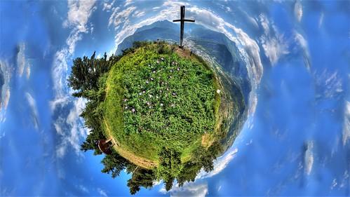 Croix du Sapey little planet