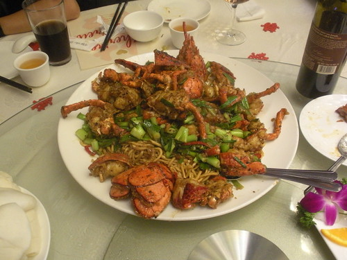 lobster noodles from Longo Seafood Restaurant