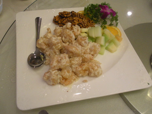 honey walnut prawns from Longo Seafood Restaurant