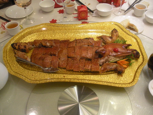 roasted half pig from Longo Seafood Restaurant