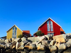 Summer houses by the sea. Norway