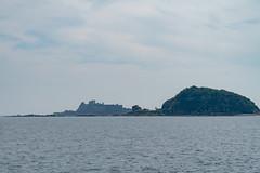 Gunkanjima in the distance
