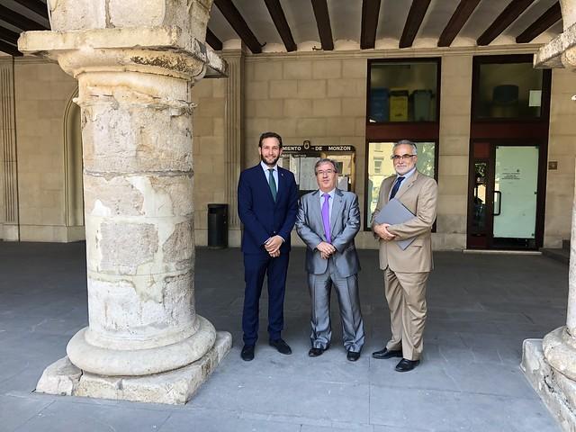 Visita institucional a Monzón