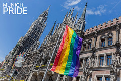 Munich Pride day in Germany with a colorful city to show solidarity with the LGBTQ-Parade