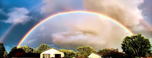 Full Rainbow taken from back yard