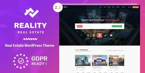 Reality v2.3.0 - Real Estate WordPress Theme